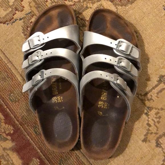e4ae28027f45 Birkenstock Shoes - Silver Birkenstock Florida